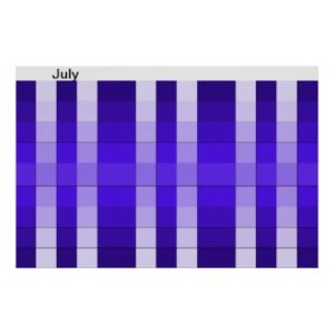 Visual Calendar for July by CricketDiane / Cricket House Studios