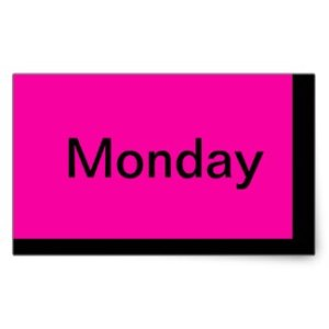 Pink Monday Color Coding Stickers for Visual Calendar System designed by CricketDiane / Cricket House Studios